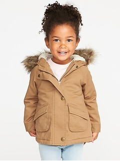 5bf9b45ee39f3 Hooded Faux-Fur-Trim Field Jacket for Toddler Girls