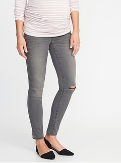 Maternity Side-Panel Rockstar Super Skinny Jeans