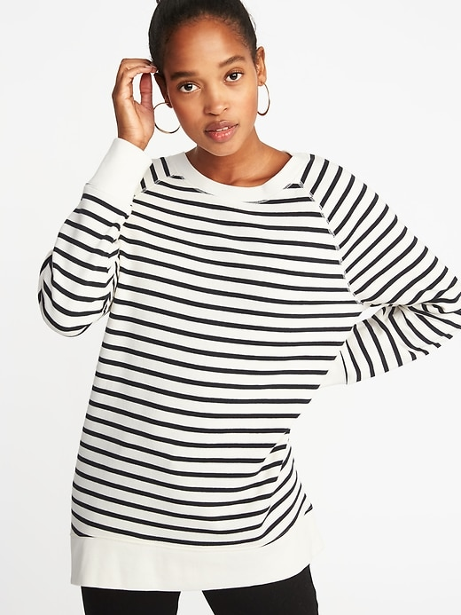 French Terry Boyfriend Sweatshirt For Women by Old Navy