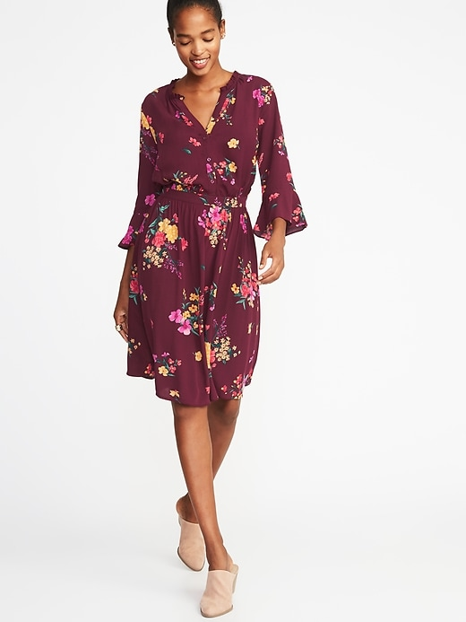Waist Defined Henley Dress For Women by Old Navy