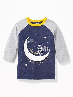 Graphic Raglan Tee for Toddler Boys