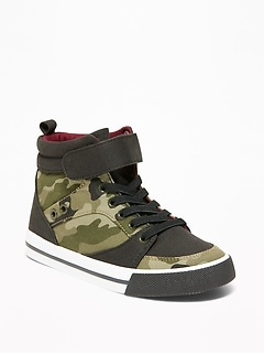 Camo-Print Canvas High-Tops for Boys