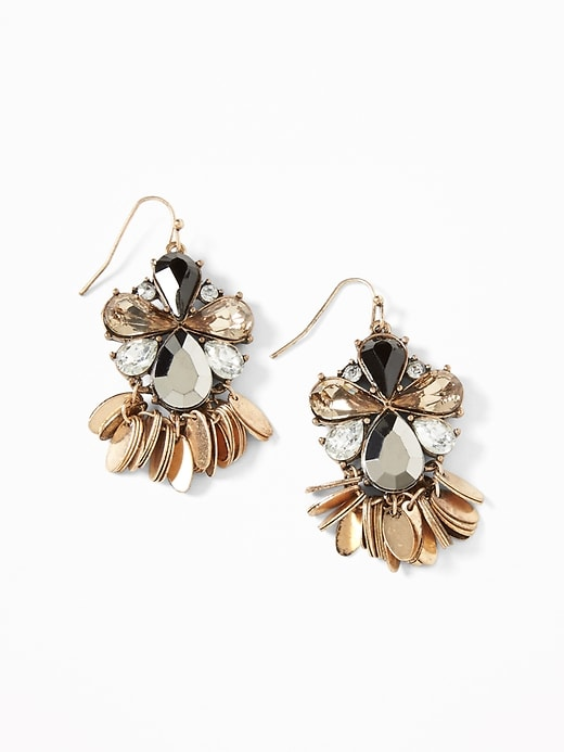 Crystal Stone Drop Earrings For Women by Old Navy