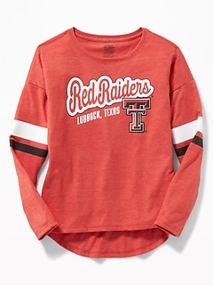 College Team Graphic Tee for Girls