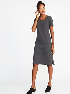 Jersey-Knit Shift Dress for Women