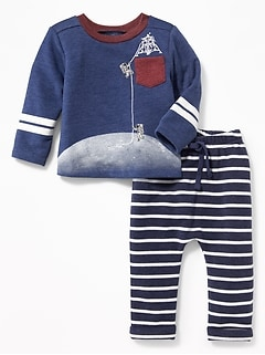 Graphic Sweatshirt & Pants Set for Baby