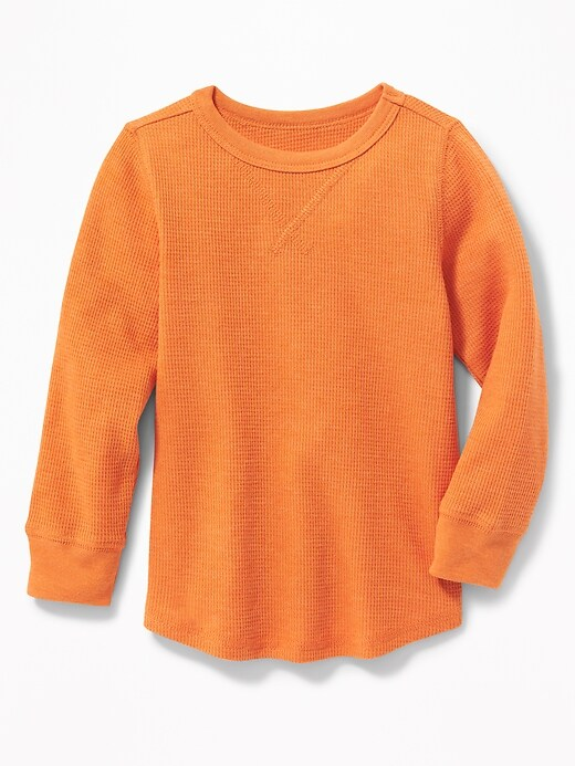 Thermal Crew-Neck Tee for Toddler Boys