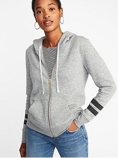 Relaxed Full-Zip Hoodie for Women