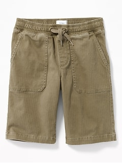 Built-In Flex Drawstring Jogger Shorts for Boys