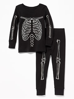 Glow-in-the-Dark Skeleton Sleep Set for Toddler & Baby