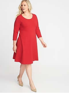 Plus-Size Fit & Flare Dress