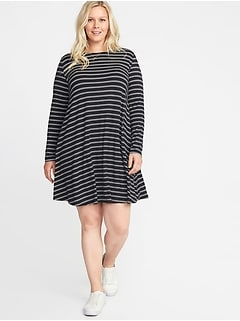 00219b9691acff Plus-Size Jersey Swing Dress