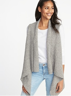 Textured-Knit Sweater Vest for Women