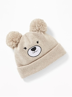 Critter Pom-Pom Beanie for Toddler & Baby