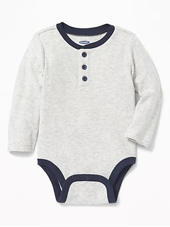 Thermal Henley Bodysuit for Baby
