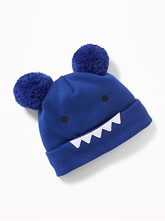 Monster Critter Pom-Pom Beanie for Toddler & Baby