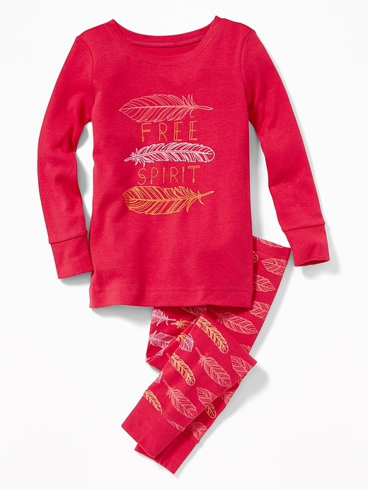 """Free Spirit"" Feather Graphic Sleep Set For Toddler Girls & Baby by Old Navy"