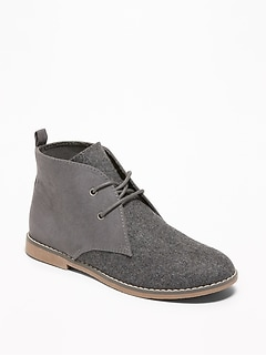 Sueded Desert Boots for Boys