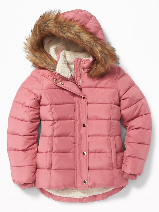 Sherpa Lined Frost Free Jacket For Girls by Old Navy