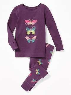 """Live Laugh Love"" Butterfly Sleep Set for Toddler Girls & Baby"