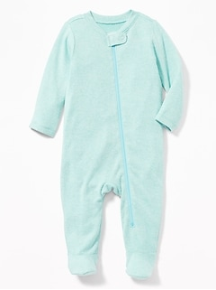 Plush-Knit Footed One-Piece for Baby