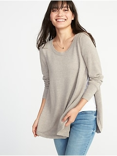 Maternity Side-Slit Nursing Sweater