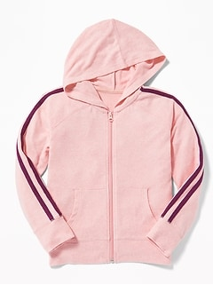 Relaxed Plush-Knit Zip Hoodie for Girls