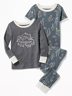 """Little Wildflower"" Graphic 3-Piece Sleep Set for Toddler Girls & Baby"