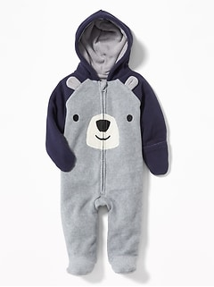 Micro Fleece Bear Critter One-Piece for Baby