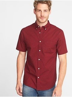 Slim-Fit Built-In Flex Everyday Textured Shirt for Men