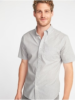 Slim-Fit Built-In Flex Pin-Dot Everyday Shirt for Men