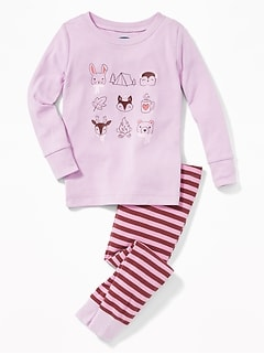 Animal-Graphic Sleep Set for Toddler & Baby