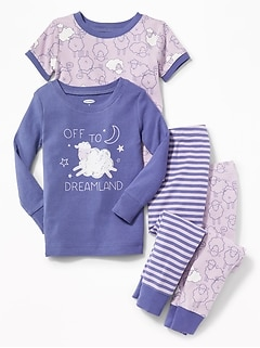 """Off to Dreamland"" 4-Piece Sleep Set for Toddler & Baby"