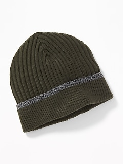 Roll-Cuffed Beanie for Men