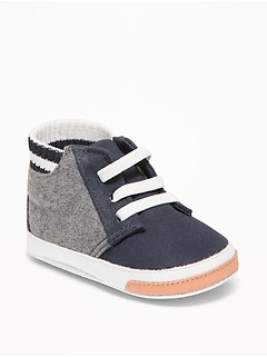 Color-Blocked Varsity-Style High-Tops for Baby