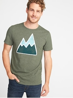 Graphic Crew-Neck Tee for Men