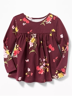 Floral Swing Top for Toddler Girls