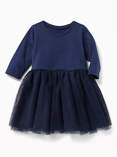 Scoop-Neck Tutu Dress for Baby