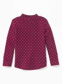 Mock-Neck Top for Toddler Girls
