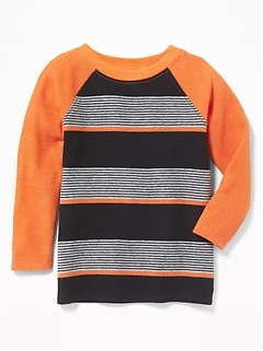 Striped Thermal Raglan Tee for Toddler Boys