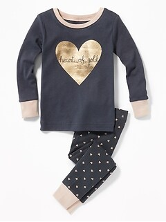 """Heart of Gold"" Sleep Set for Toddler Girls & Baby"