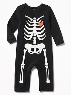 Skeleton Graphic One-Piece for Baby