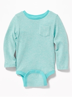 Plush-Knit Bodysuit for Baby