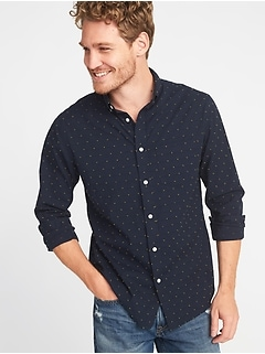 Regular-Fit Everyday Textured Shirt for Men