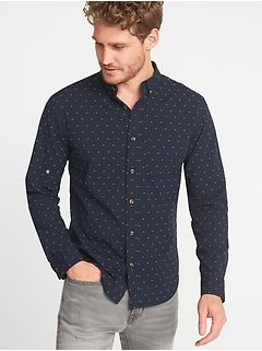 Slim-Fit Built-In Flex Everyday Dobby Shirt for Men