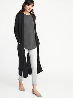 Super-Long Open-Front Duster for Women