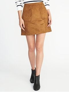 Faux-Suede Utility A-Line Mini for Women