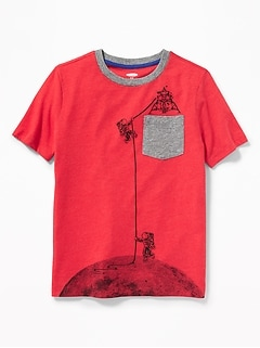 Graphic Pocket Tee for Boys