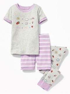 """You + Me"" Equation Graphic 3-Piece Sleep Set for Toddler & Baby"