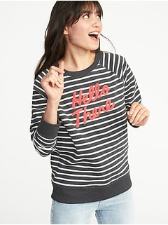 Relaxed Graphic Crew-Neck Sweatshirt for Women